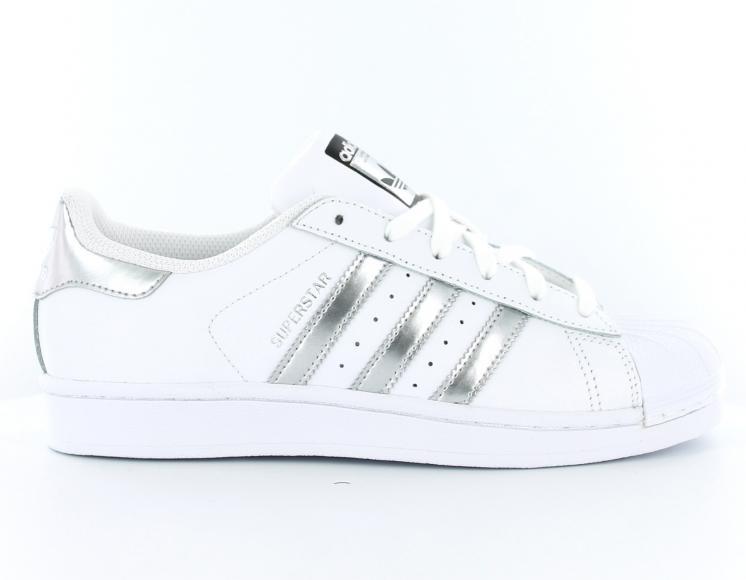 superstar argent femme adidas et blanc 29EDeIWHY